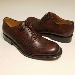 Bruno Magli Saxon Brogue Oxford Shoes Size 8.5 M